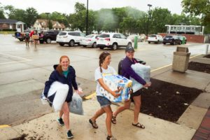 Moving into the residence hall